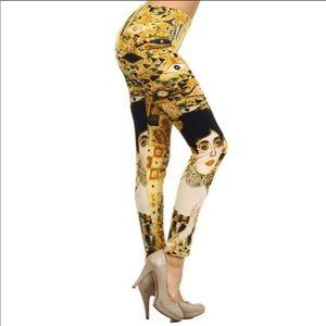 Klimt inspired leggings. NWT. One size.